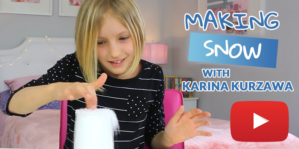 Karina Kurzawa makes snow in seconds