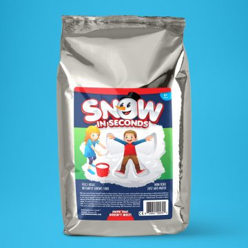 Jumbo Fake Snow Bag